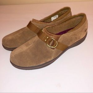 KEDS Brown Suede Faux Fur Lining Slip on Shoes 7.5